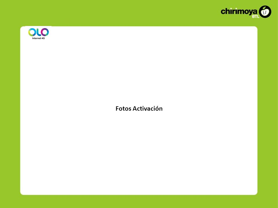 Fotos Activación