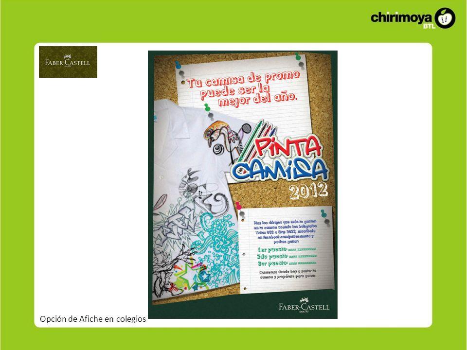 Opción de Afiche en colegios