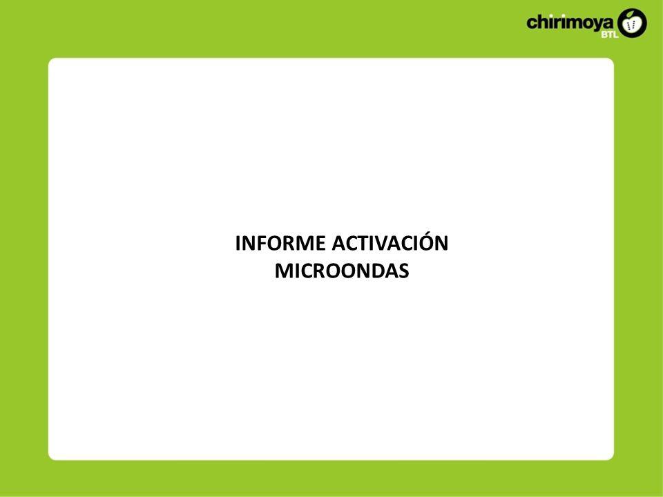INFORME ACTIVACIÓN MICROONDAS