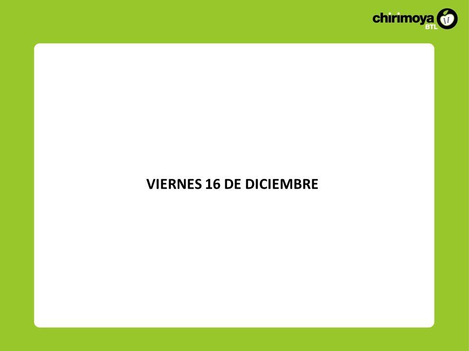 VIERNES 16 DE DICIEMBRE