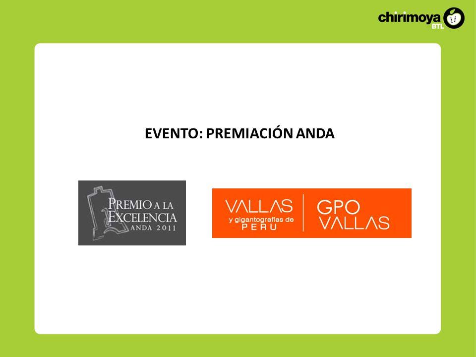 ANTECEDENTES DEL EVENTO GPO Vallas participó como patrocinador del premio ANDA.