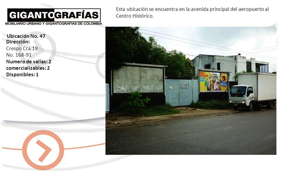 Dirección: Bocagrande Av. El Malecón Sector El Pueblito Lote No. 2 Numero de vallas: 15 comercializables: 15 Disponibles: 12 Esta ubicación se encuent