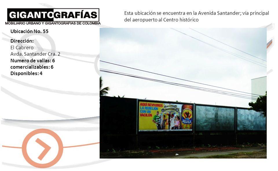 Dirección: Crespo Cra.19 No. 168-91 Numero de vallas: 2 comercializables: 2 Disponibles: 1 Esta ubicación se encuentra en la avenida principal del aer