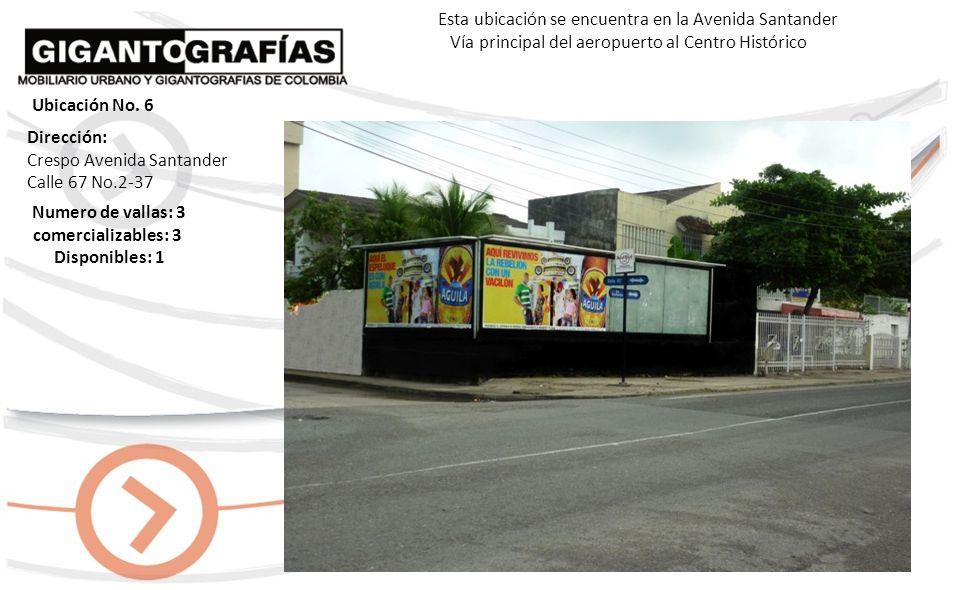 Dirección: Bocagrande, Cra. 1 Av. El Malecón Urbanización La Playa Numero de vallas : 3 comercializables: 3 Disponibles: 2 Esta ubicación se encuentra