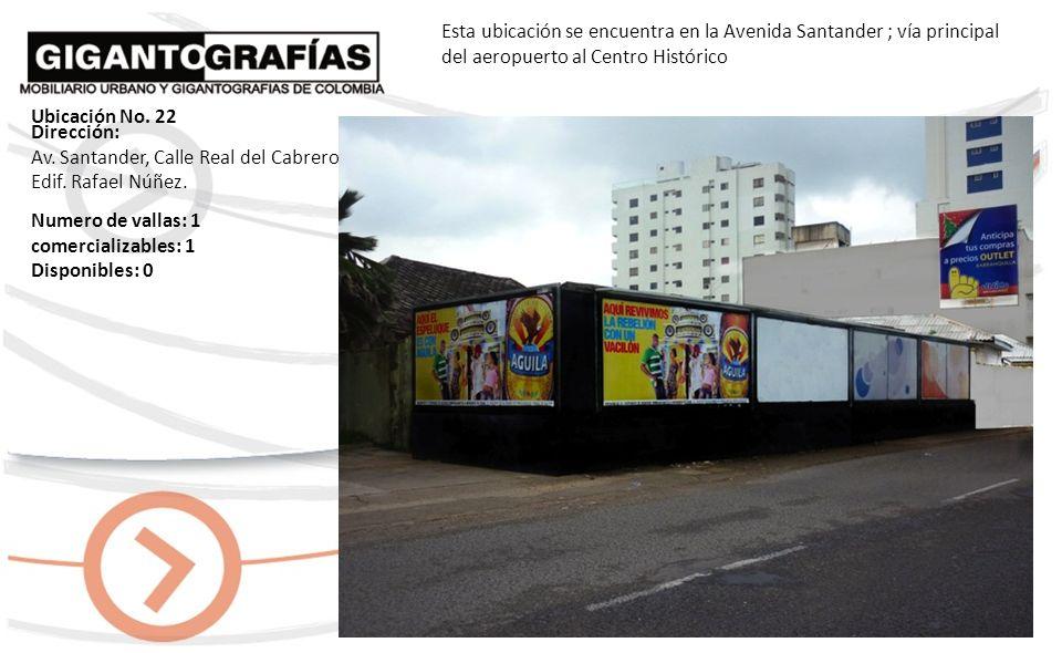 Esta ubicación se encuentra en la Avenida Santander; vía principal del aeropuerto al Centro histórico Dirección: Avenida Santander con cll Real del Ca