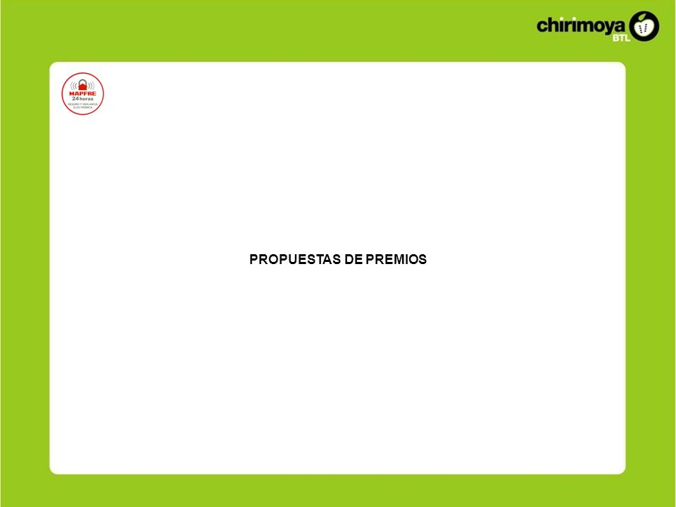 PROPUESTAS DE PREMIOS