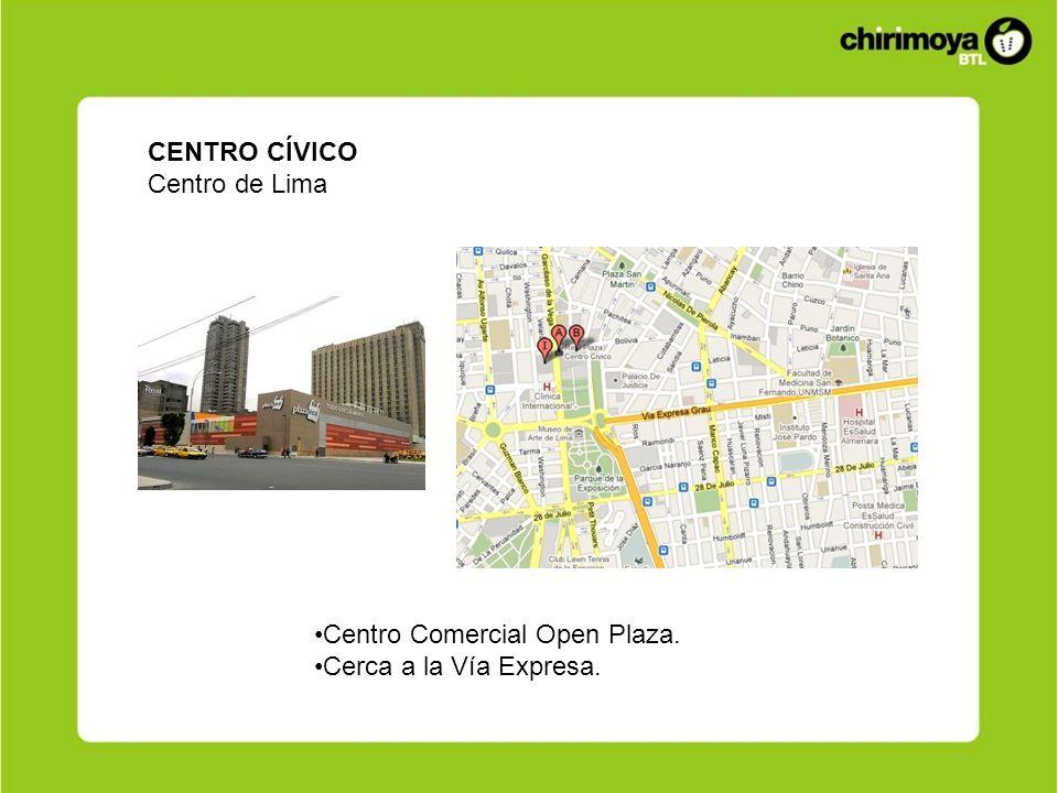 CENTRO CÍVICO Centro de Lima Centro Comercial Open Plaza. Cerca a la Vía Expresa.