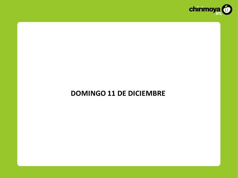 DOMINGO 11 DE DICIEMBRE