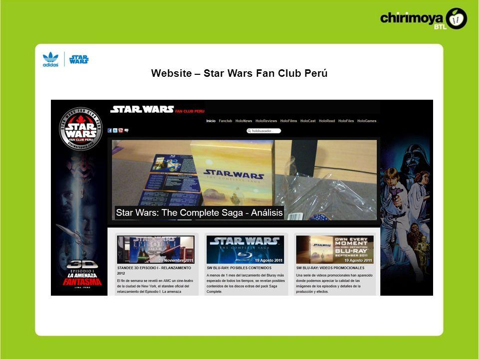 Website – Star Wars Fan Club Perú