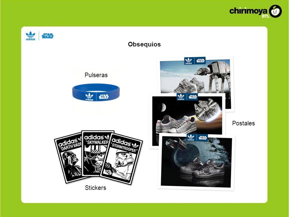 Obsequios Pulseras Stickers Postales