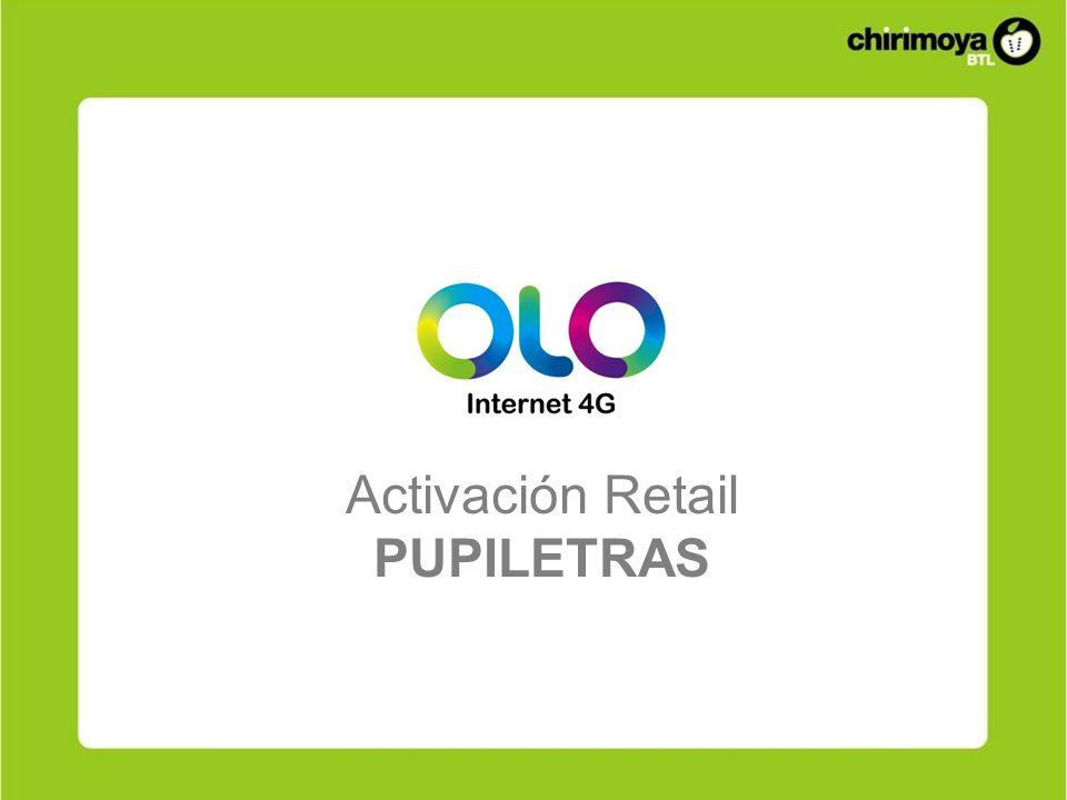 Activación Retail PUPILETRAS