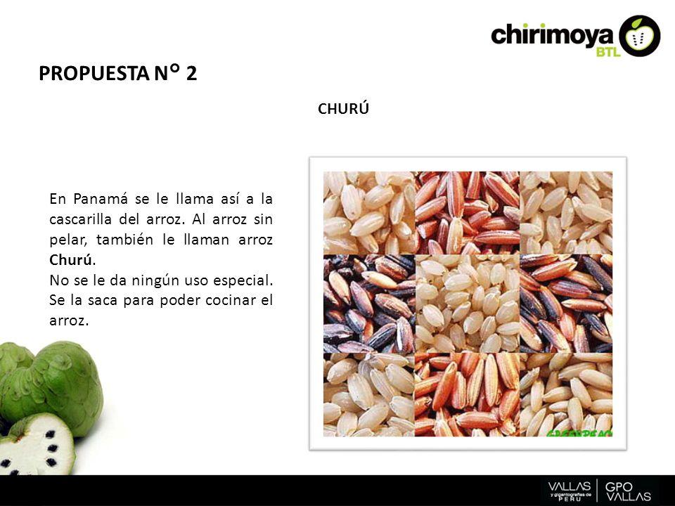 En Panamá se le llama así a la cascarilla del arroz. Al arroz sin pelar, también le llaman arroz Churú. No se le da ningún uso especial. Se la saca pa