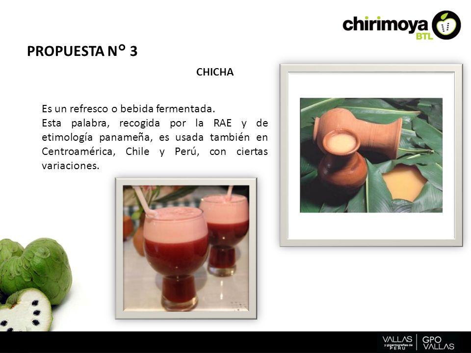 Es un refresco o bebida fermentada. Esta palabra, recogida por la RAE y de etimología panameña, es usada también en Centroamérica, Chile y Perú, con c