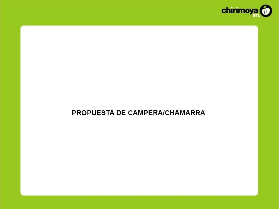 PROPUESTA DE CAMPERA/CHAMARRA