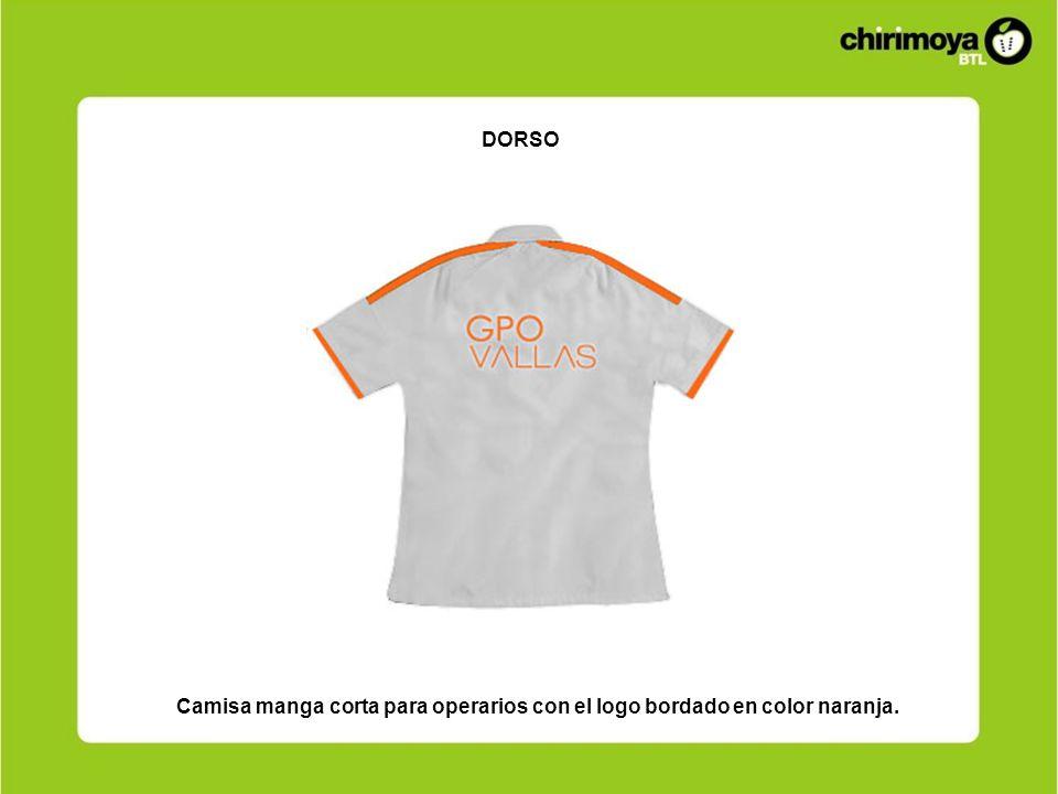 DORSO Camisa manga corta para operarios con el logo bordado en color naranja.