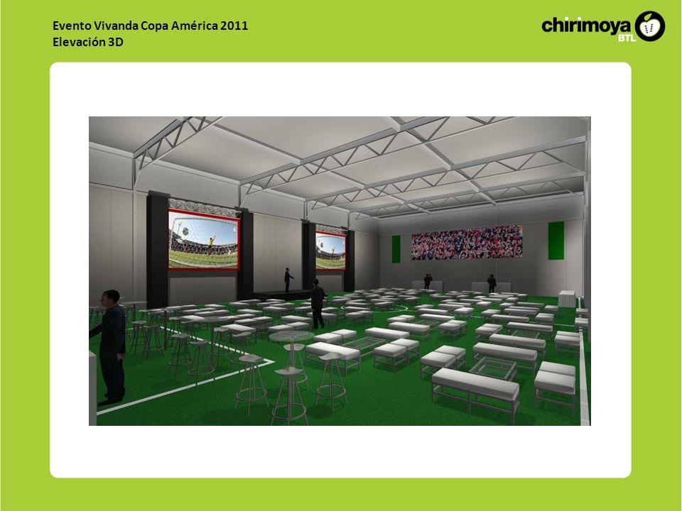 Evento Vivanda Copa América 2011 Elevación 3D