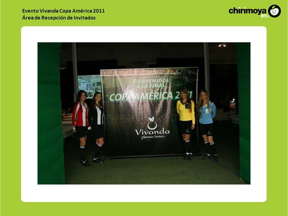 Evento Vivanda Copa América 2011 Área de Recepción de Invitados
