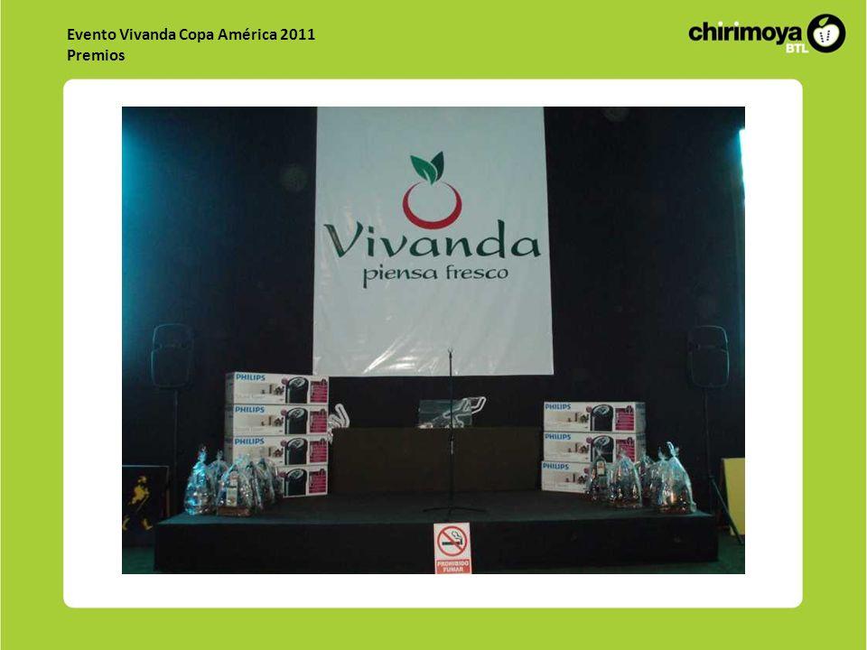 Evento Vivanda Copa América 2011 Premios