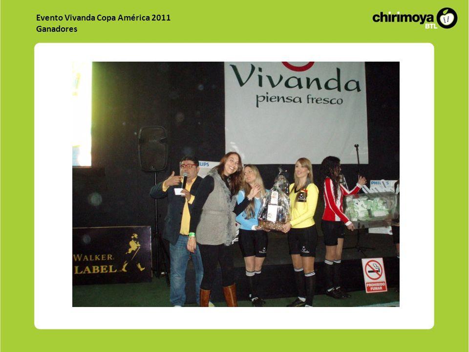 Evento Vivanda Copa América 2011 Ganadores
