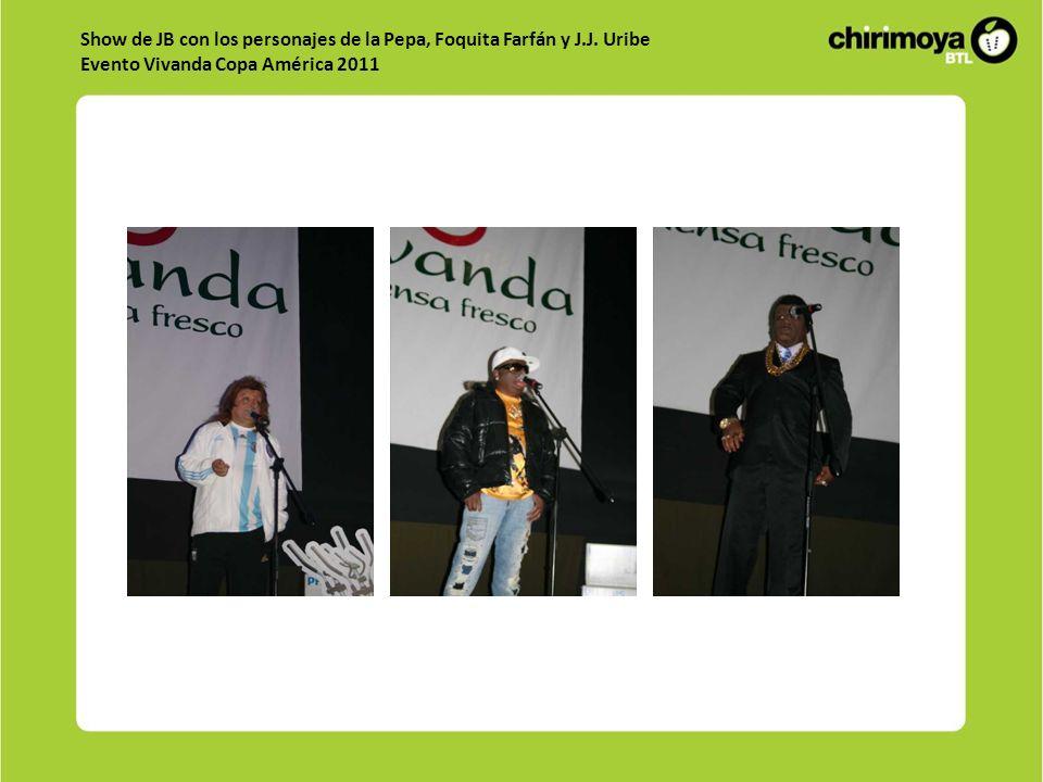 Show de JB con los personajes de la Pepa, Foquita Farfán y J.J.