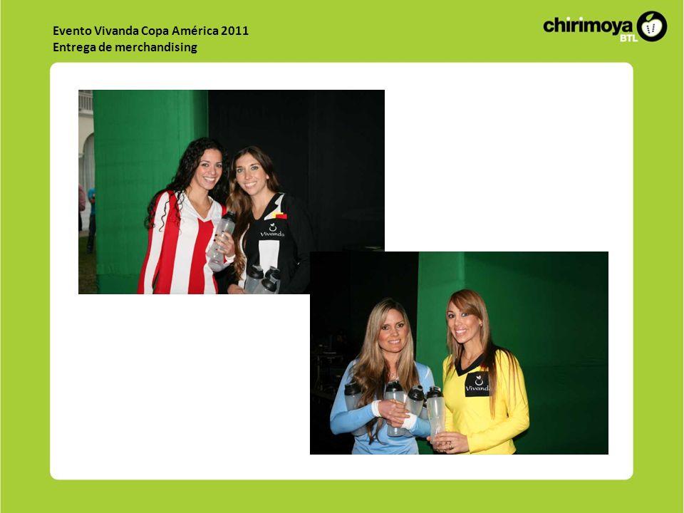 Evento Vivanda Copa América 2011 Entrega de merchandising