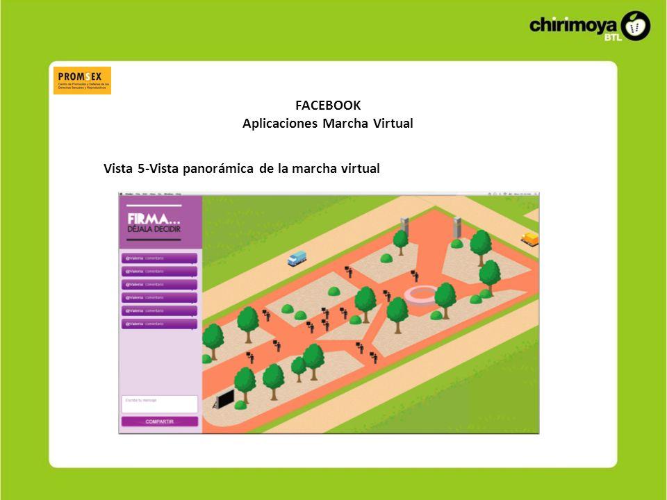 FACEBOOK Aplicaciones Marcha Virtual Vista 5-Vista panorámica de la marcha virtual