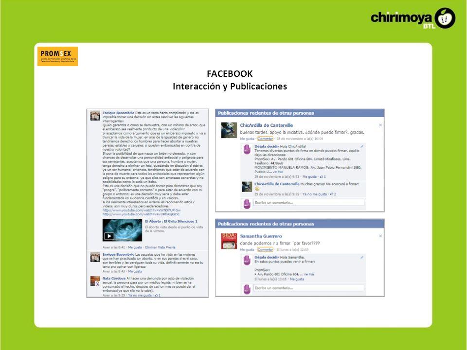 FACEBOOK Interacción de Usuarios
