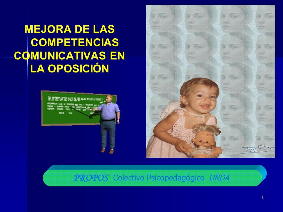 1 MEJORA DE LAS COMPETENCIAS COMUNICATIVAS EN LA OPOSICIÓN PROPOS Colectivo Psicopedagógico URDA