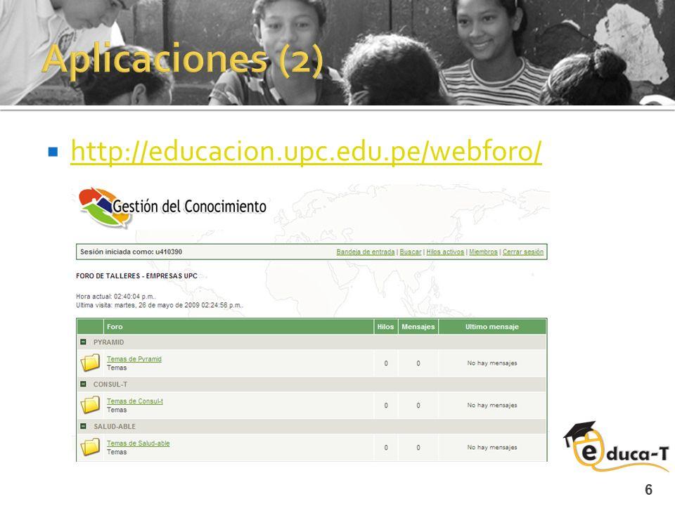 6 http://educacion.upc.edu.pe/webforo/