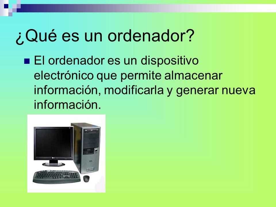 COMPONENTES DEL HARDWARE Periféricos o dispositivos de entrada: Los componentes que permiten introducir información en el ordenador se llaman dispositivos de entrada.
