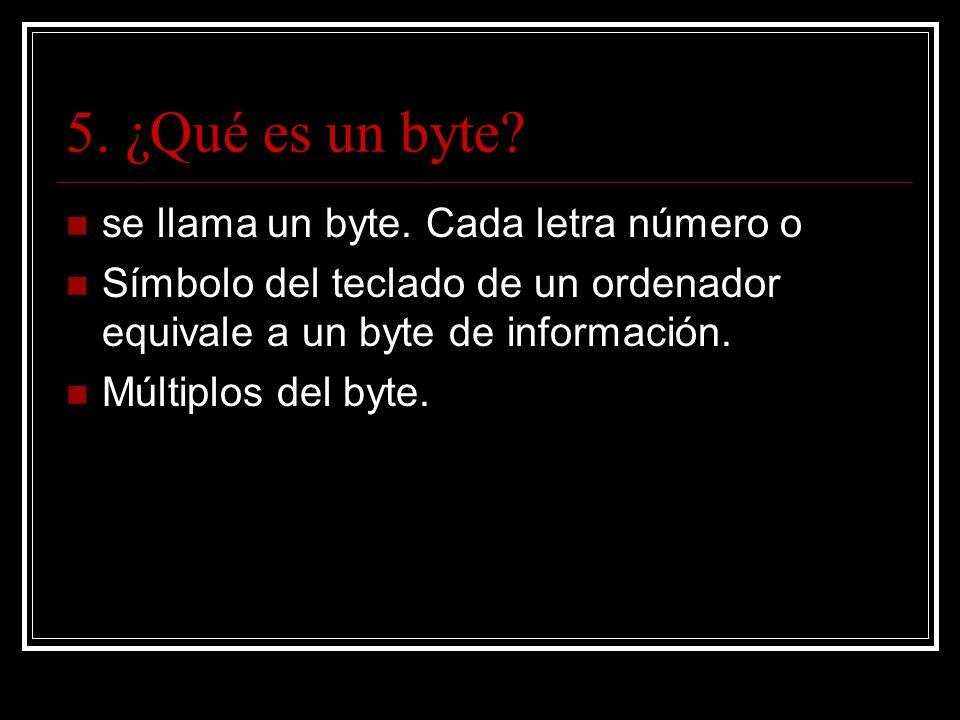 5. ¿Qué es un byte. se llama un byte.