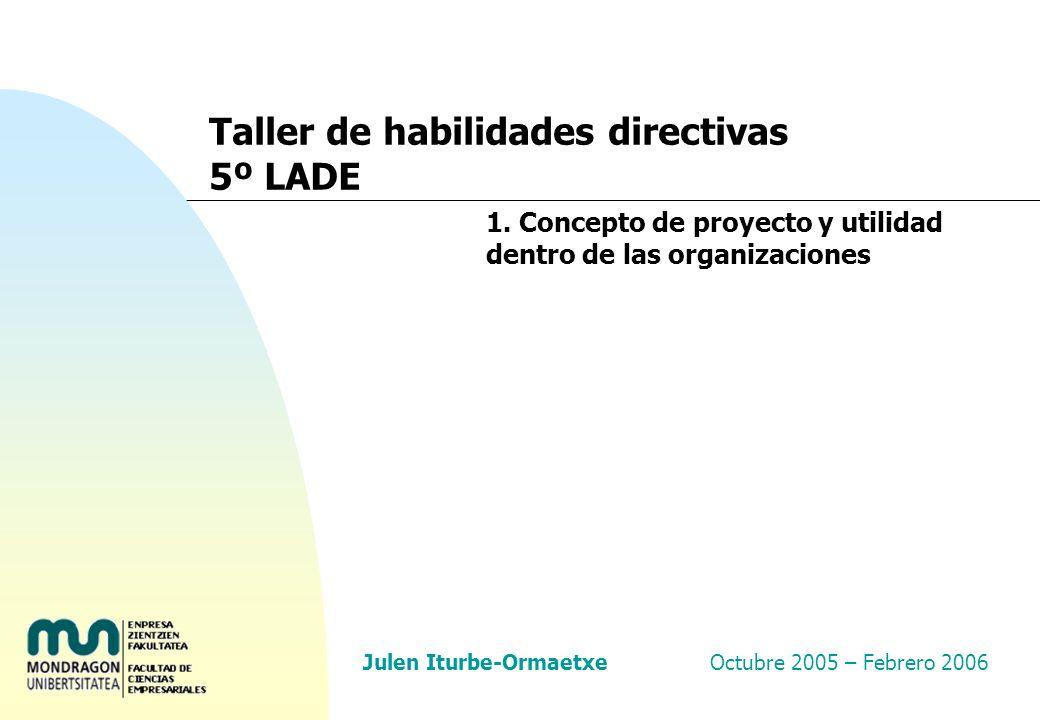 Taller de habilidades directivas: Gestión de proyectos 58 Planificar es… n Identificar las actividades o tareas, a través de las cuales se desglosa el trabajo que hay que realizar a lo largo del proyecto.