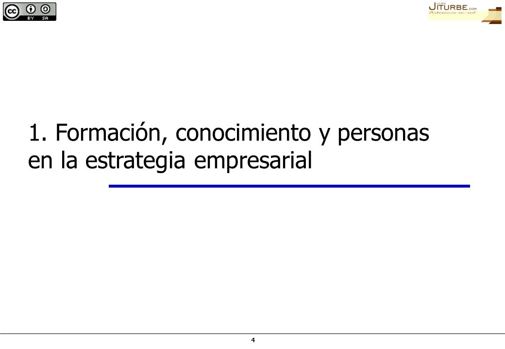 4 1. Formación, conocimiento y personas en la estrategia empresarial