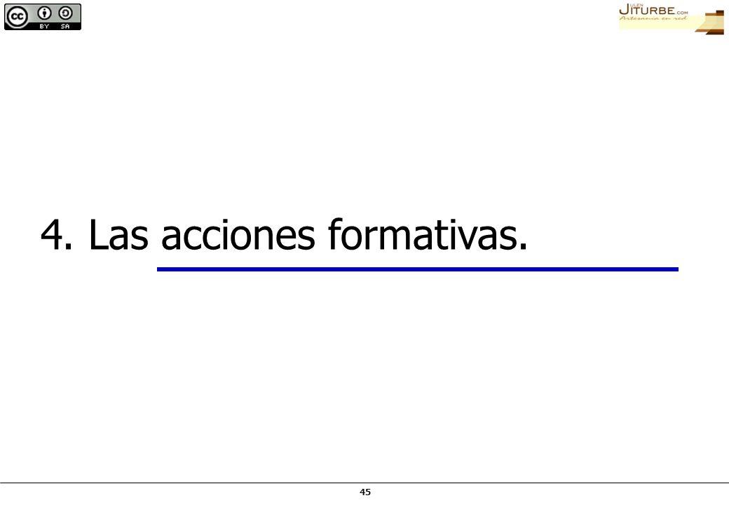 45 4. Las acciones formativas.