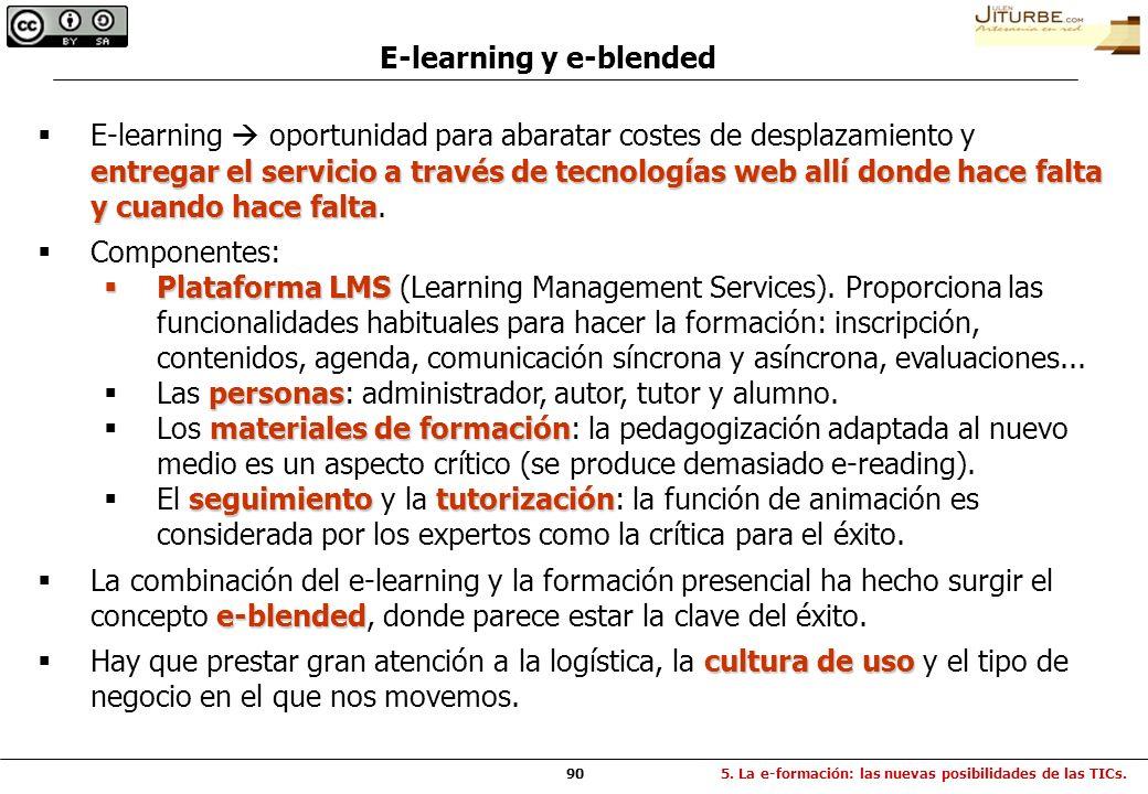 90 E-learning y e-blended entregar el servicio a través de tecnologías web allí donde hace falta y cuando hace falta E-learning oportunidad para abara