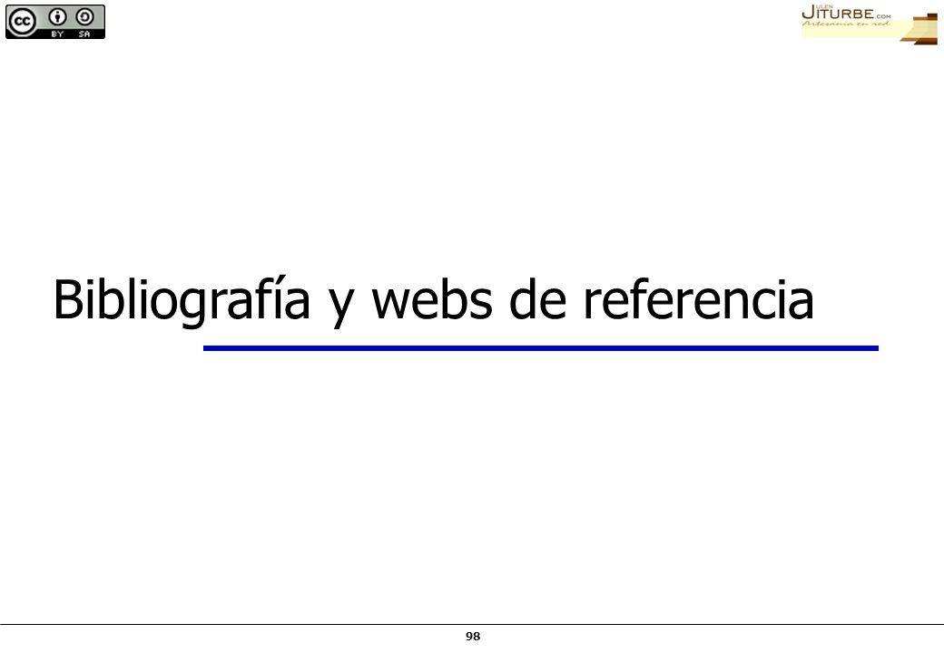 98 Bibliografía y webs de referencia