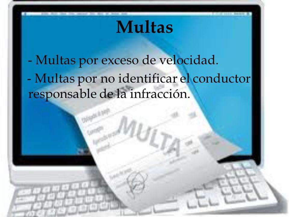 Multas - Multas por exceso de velocidad.