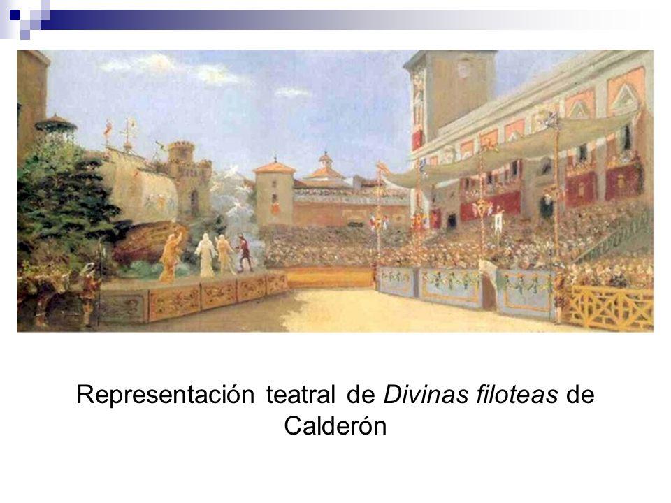 Representación teatral de Divinas filoteas de Calderón