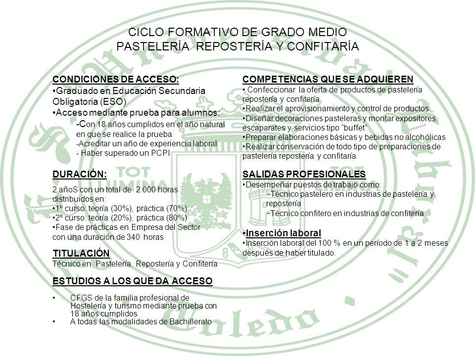 FAMILIA PROFESIONAL INDUSTRIAS ALIMENTICIAS