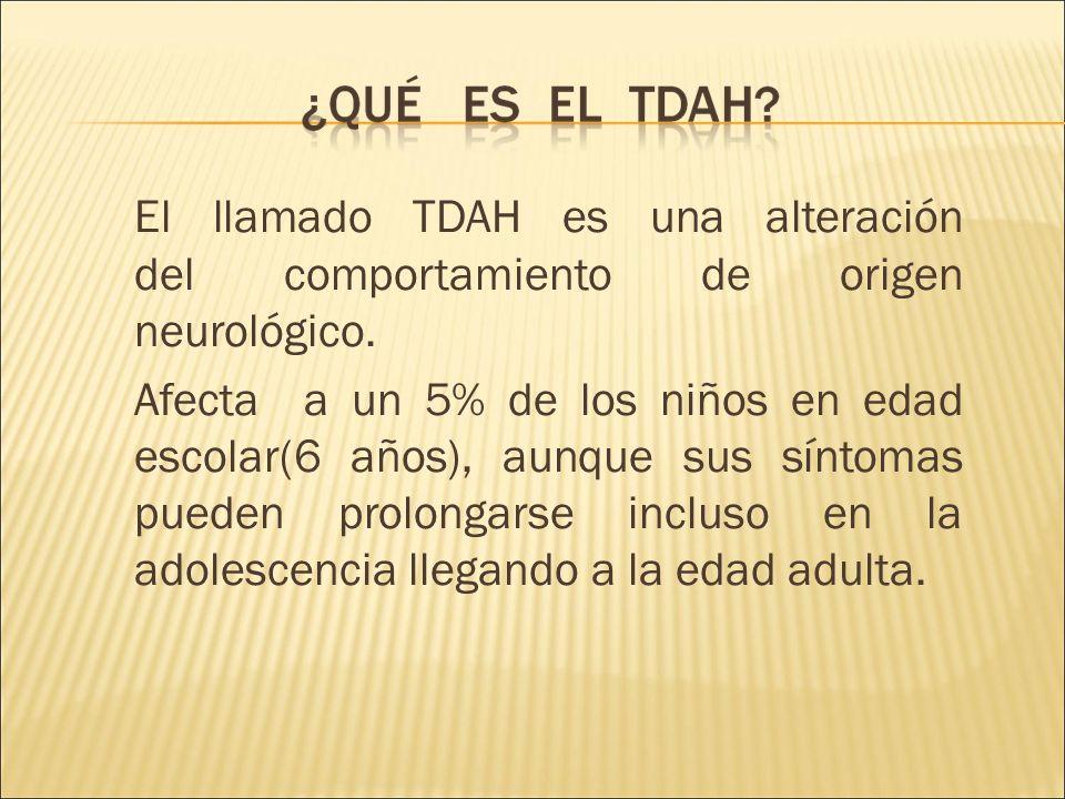 El llamado TDAH es una alteración del comportamiento de origen neurológico.