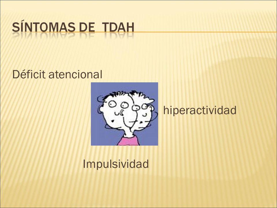 Déficit atencional hiperactividad Impulsividad
