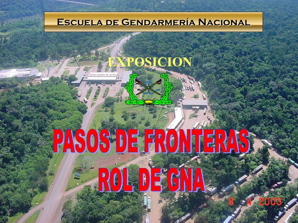 1.INTRODUCION 2.CONCEPTO DE PASO DE FRONTERA 3.CANTIDAD DE PASOS 4.HABILITACIONES ESPECIALES 5.FUNCIONES GNA: PROPIAS Y DELEGADAS 6.CONTROLES INTEGRADOS DE FRONTERAS DISTINTAS MODALIDADES RESPONSABILIDAD GNA.
