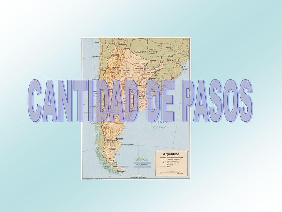 CANTIDAD DE PASOS Pasos con Brasil Cant: 22 Pasos con Uruguay Cant: 14 Pasos con Paraguay Cant: 39 Pasos con Bolivia Cant 5 Pasos con Chile Cant: 73 TOTAL: 153 Total GNA: 102 Total PNA: 51
