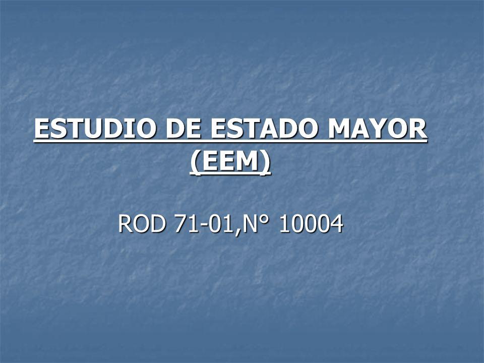 ESTUDIO DE ESTADO MAYOR (EEM) ROD 71-01,N° 10004