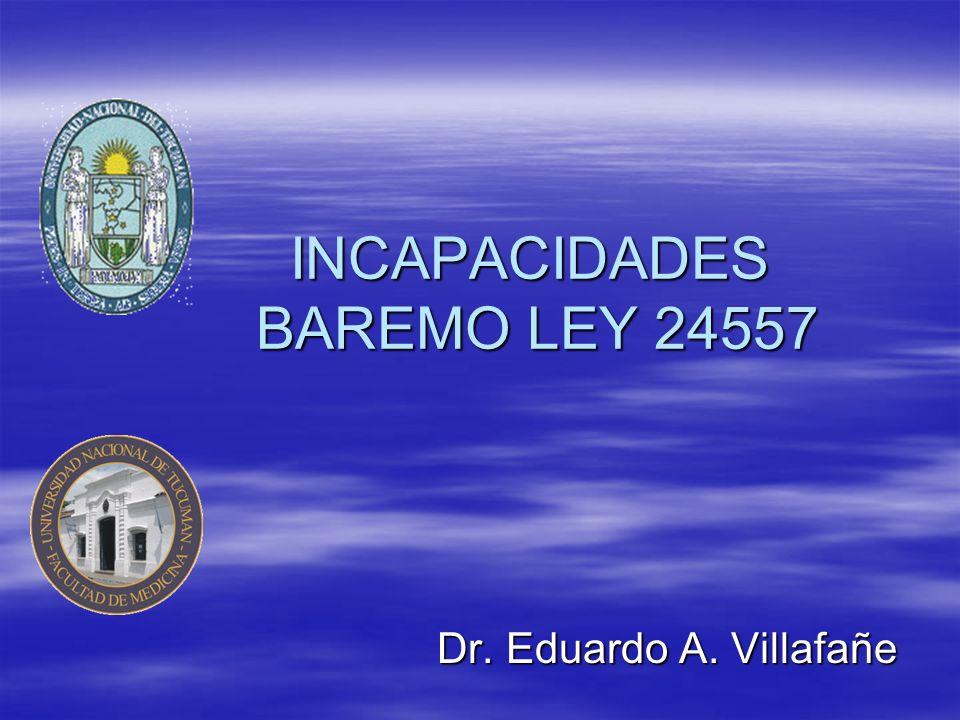 Dr.Eduardo A. Villafañe INCAPACIDADES Y como fijo el grado de las incapacidades.