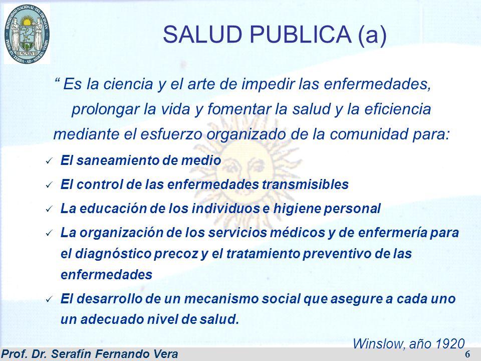 Prof.Dr. Serafín Fernando Vera 17 CIRCULO DE LA ENFERMEDAD - POBREZA A.