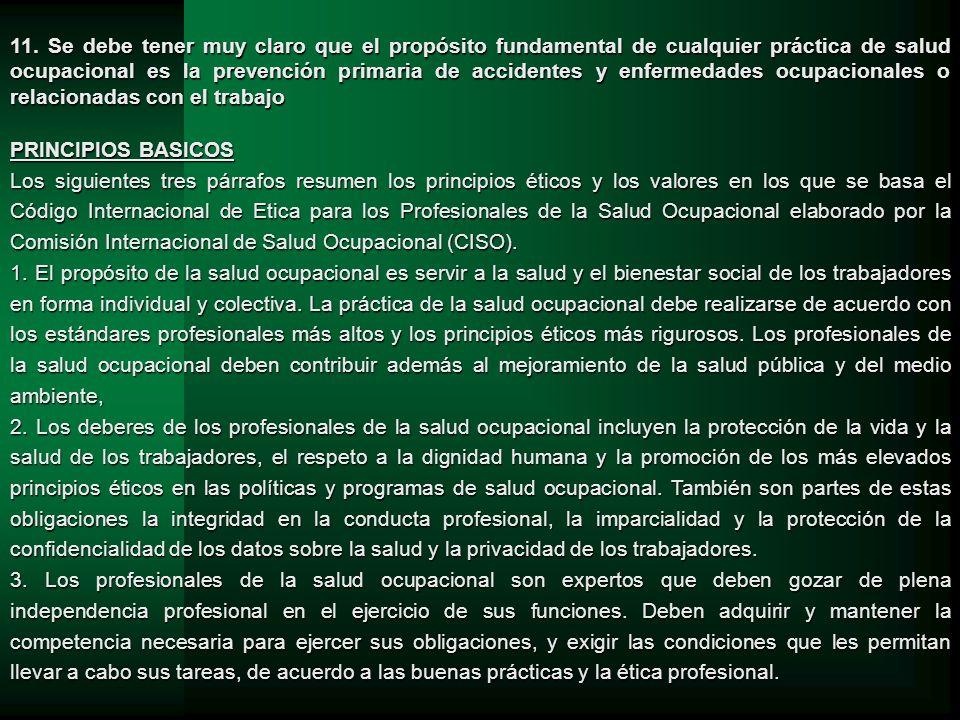 CLÁUSULA ÉTICA EN LOS CONTRATOS DE EMPLEO 19.Los profesionales de la salud ocupacional deben solicitar la inclusión de una cláusula ética en sus contratos de trabajo.