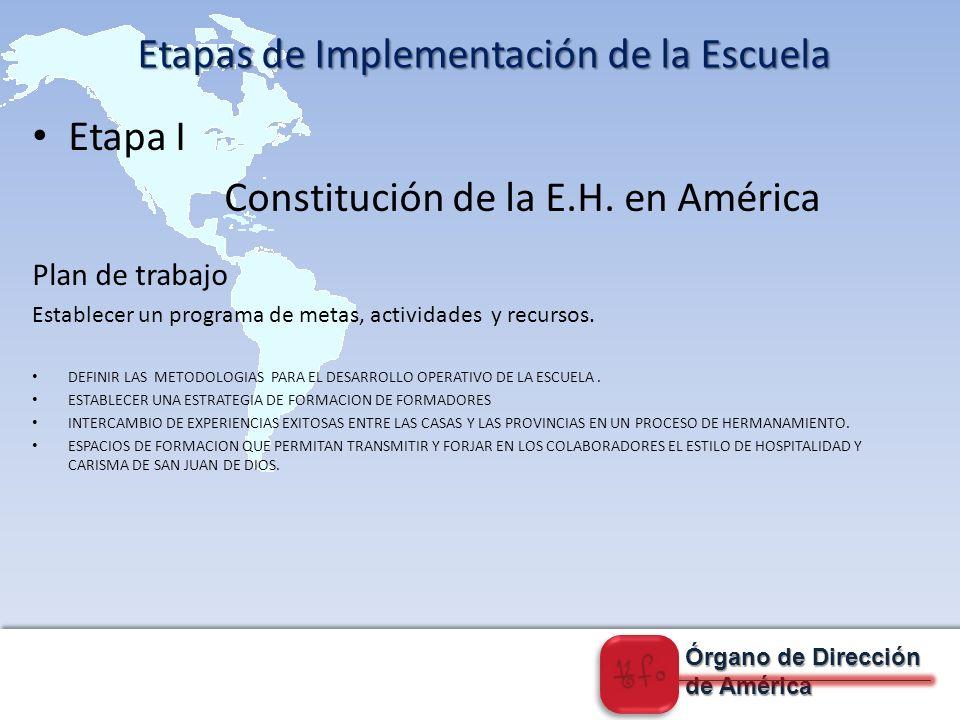 Órgano de Dirección de América Etapa II Desarrollo de Programas de la E.H.