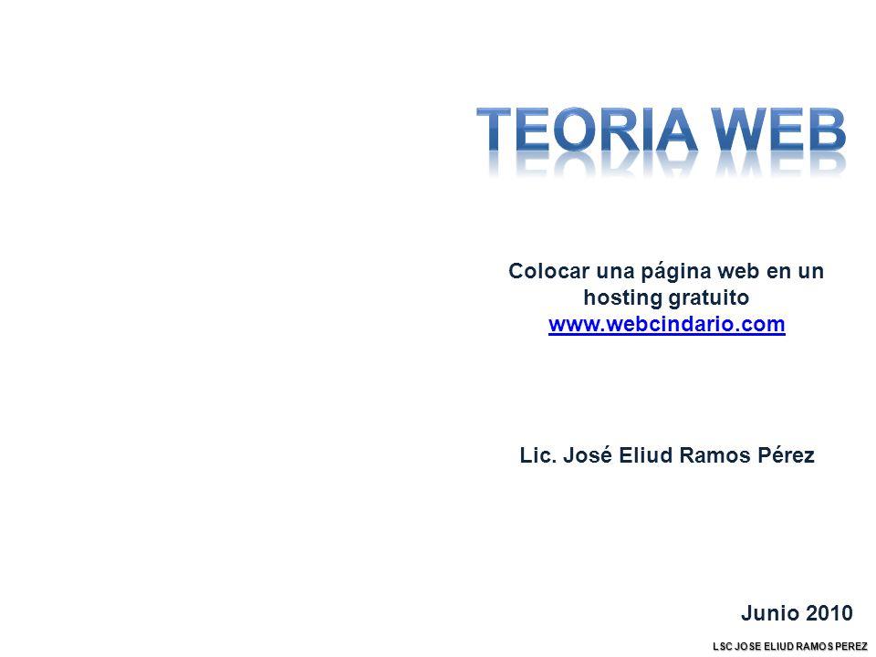 Colocar una página web en un hosting gratuito www.webcindario.com Lic.