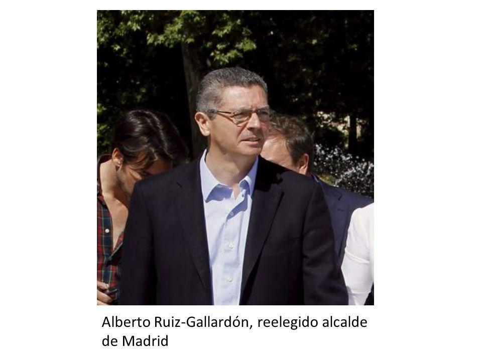 Alberto Ruiz-Gallardón, reelegido alcalde de Madrid